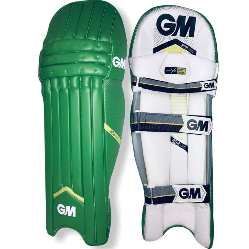 GM 808 Limited Edition Cricket Batting Pads Green - Men RH / Green - PADS - BATTING