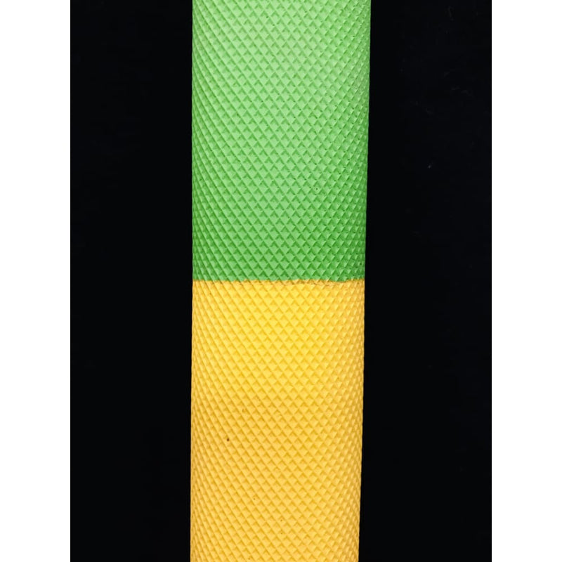 GR Cricket Bat Grip Diamond Design Full Green/Yellow/Black - Cricket Bat Grip