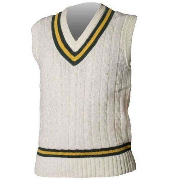 Gray-Nicolls Bottle/Gold Slipover - CLOTHING - SWEATER