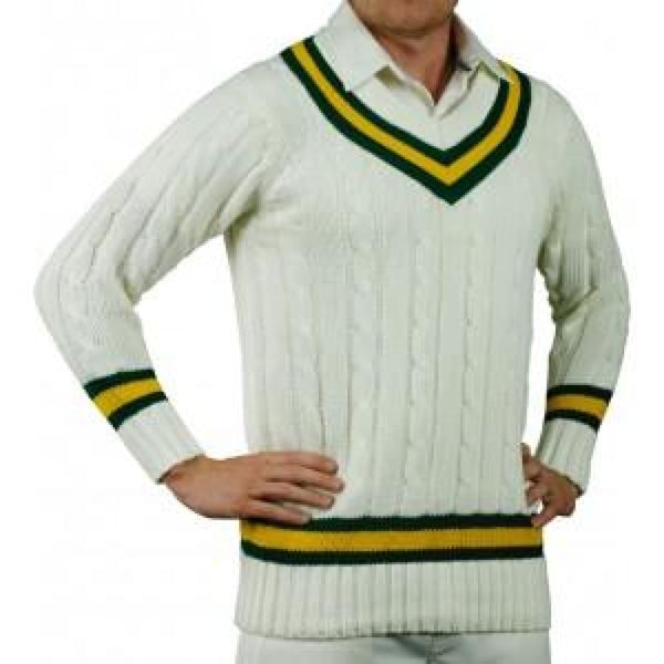 Gray-Nicolls Green Gold Green Sweater - Small / Green/Gold/Green - CLOTHING - SWEATER