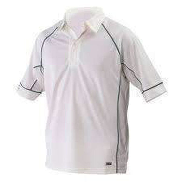 Gray-Nicolls Ice Ivory Cricket Shirt Green Trim Jersey - CLOTHING - SHIRT