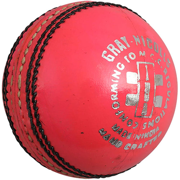 Gray-Nicolls League Pink Leather Cricket Ball - BALL - 4 PCS LEATHER