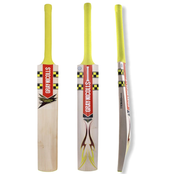 Gray Nicolls Powerbow Inferno 200 Cricket Bat Adult English Willow - Short Handle - BATS - MENS ENGLISH WILLOW