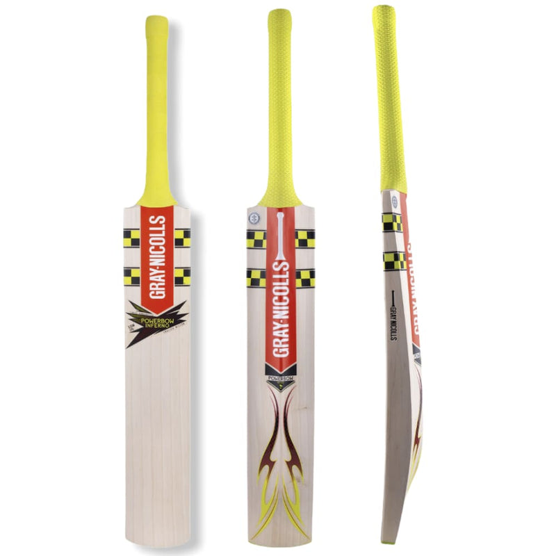 Gray Nicolls Powerbow Inferno 5 Star Cricket Bat English Willow Adult - Short Handle - BATS - MENS ENGLISH WILLOW