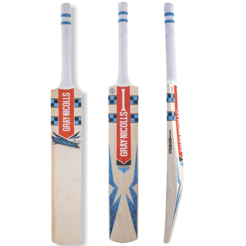 Gray Nicolls Shockwave 5 Star Lite Cricket Bat Adult English Willow - Short Handle - BATS - MENS ENGLISH WILLOW