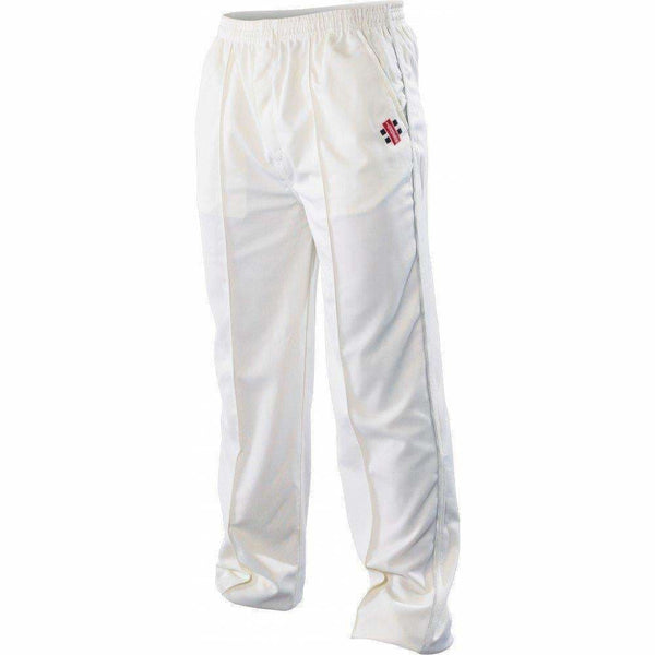 Gray-Nicolls Super Ivory Green Trim Pant Trouser - CLOTHING - PANTS