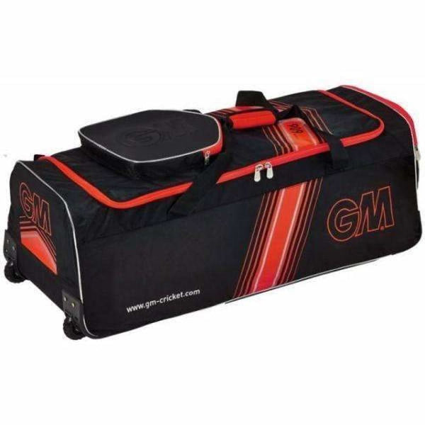 GUNN & MOORE 909 Wheelie Black/ Red Cricket Bag - BAG - PERSONAL