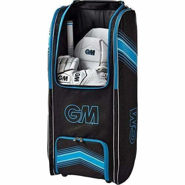 GUNN & MOORE Original Wheelie Duffle Black/ Blue Bag - BAG - PERSONAL