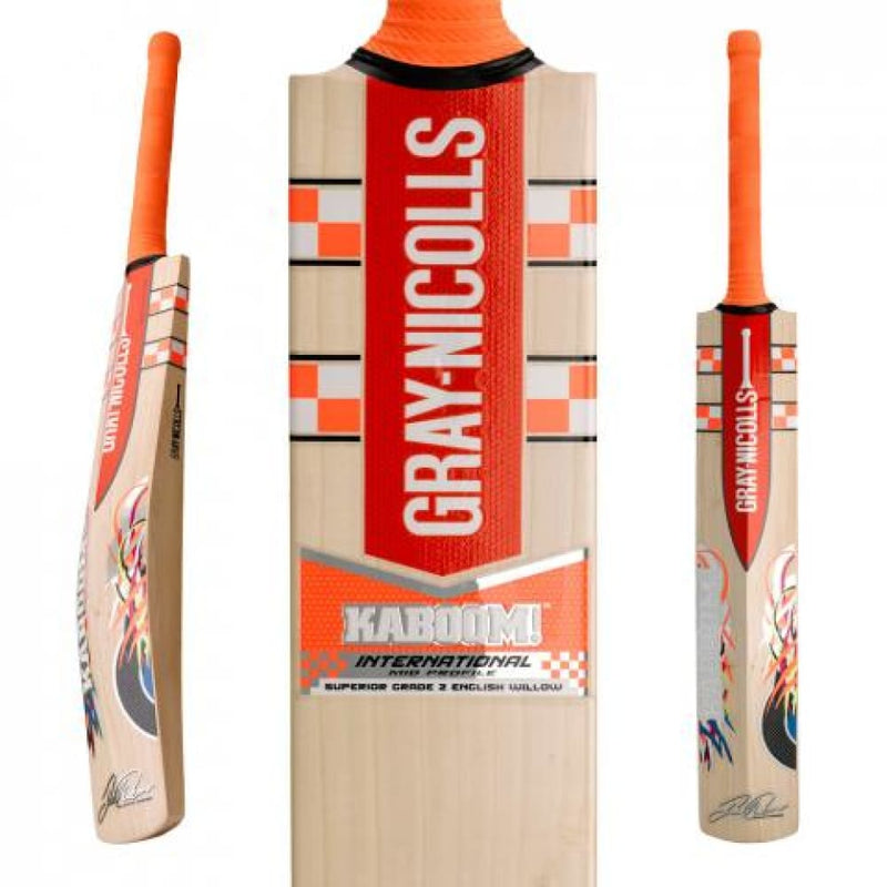 Kaboom International 5 Star Pink Cricket Bat Gray Nicolls - BATS - MENS ENGLISH WILLOW