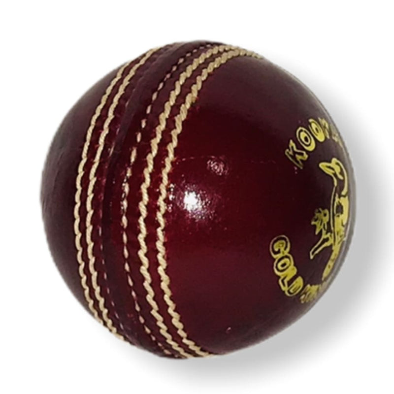 Kookaburra Gold King Cricket Ball Red Senior Grade A - Senior / Red - BALL - 4 PCS LEATHER