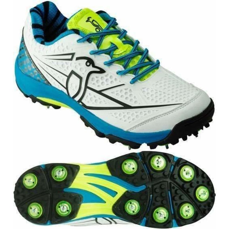 Kookaburra Pro Players Blue Cricket Shoes Metal & Rubber Spikes - FOOTWEAR - FULL SPIKE SOLE