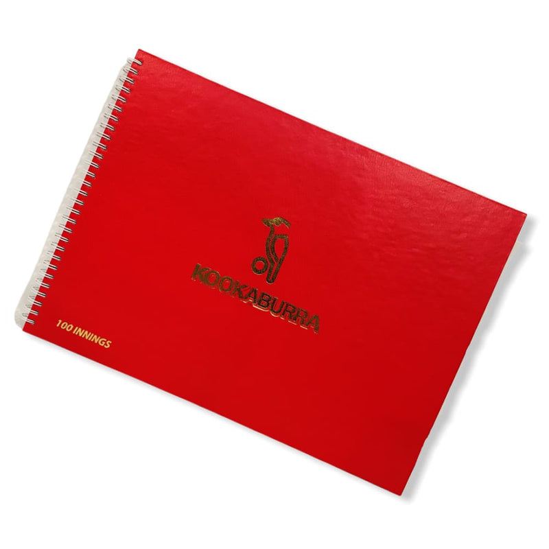 Kookaburra Score Book For Cricket 100 Innings - 100 Innings - SCORE BOOKS