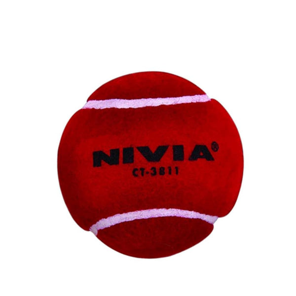 Nivia Heavy Tennis Cricket Ball Red - BALL - SOFTBALL