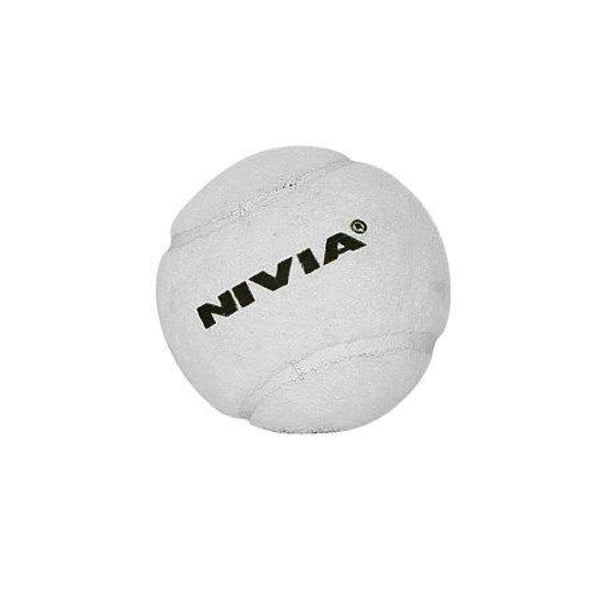 Nivia Heavy Tennis Cricket Ball White - BALL - SOFTBALL