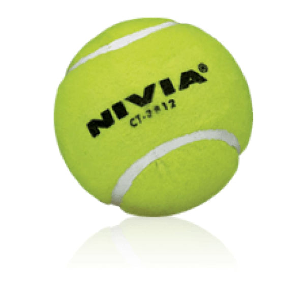 Nivia Heavy Tennis Cricket Ball Yellow - BALL - SOFTBALL