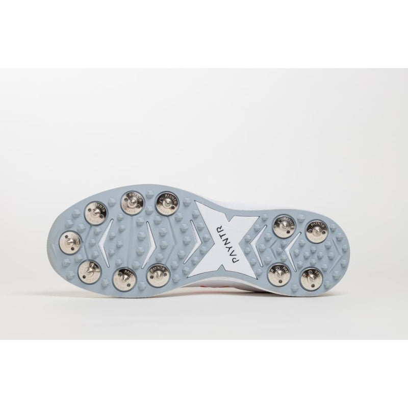 Payntr X White Spike Cricket Shoes - FOOTWEAR - FULL SPIKE SOLE