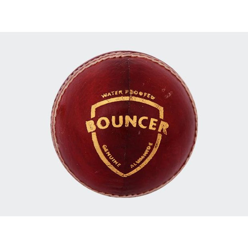 SG Bouncer Cricket Ball Red Hard Leather Ball Senior - BALL - 4 PCS LEATHER