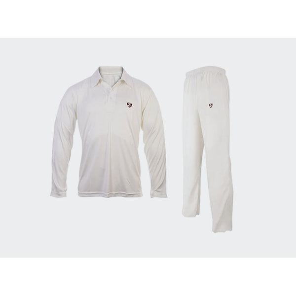 SG Cricket Shirt & Cricket Pant Trouser Full Sleeve Combo Uniform White - CLOTHING - SHIRT