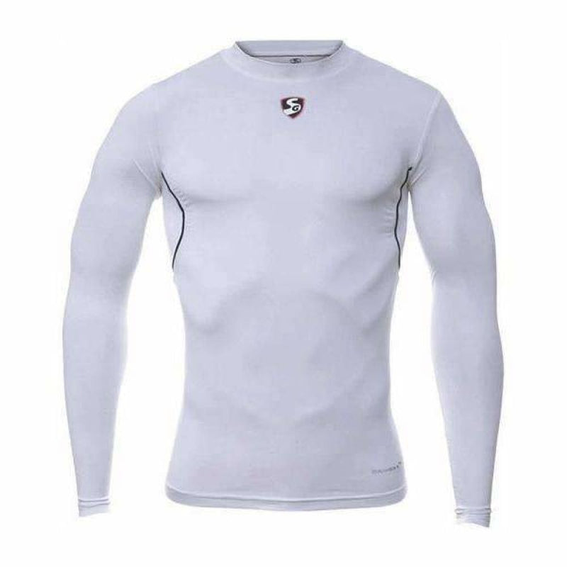 SG Pro Base Layer Skin Fit Icon Cricket Shirt White - CLOTHING - SHIRT