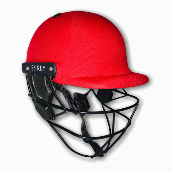 Shrey Armor 2.0 Cricket Helmet Red - Medium / Red - HELMETS & HEADGEAR