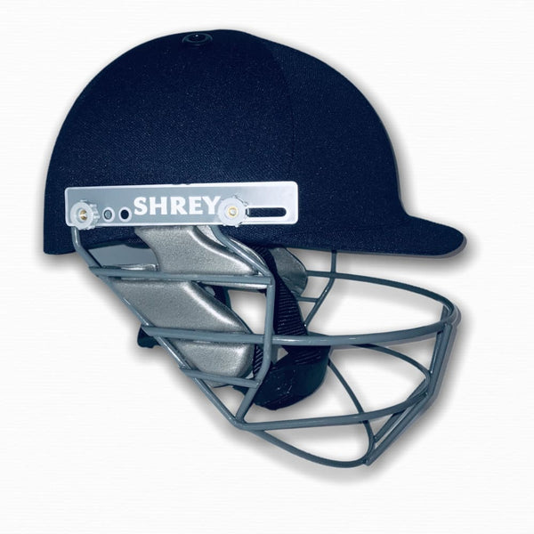 Shrey Junior Steel Cricket Helmet Navy - Junior - HELMETS & HEADGEAR