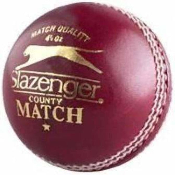 Slazenger County Match Cricket Ball Mens - BALL - 4 PCS LEATHER
