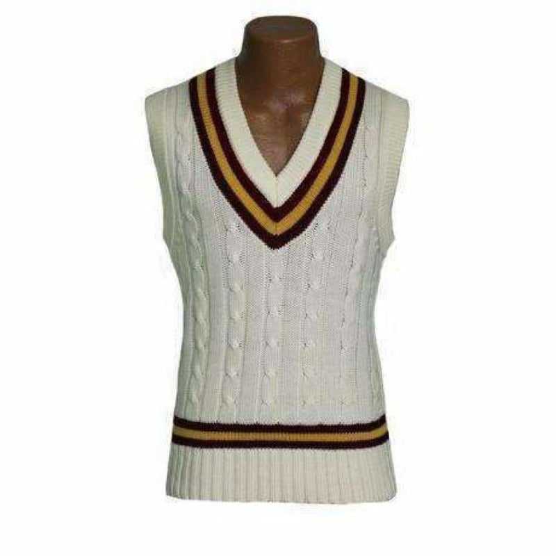 Slipover Maroon/Gold Gray Nicolls - CLOTHING - SWEATER