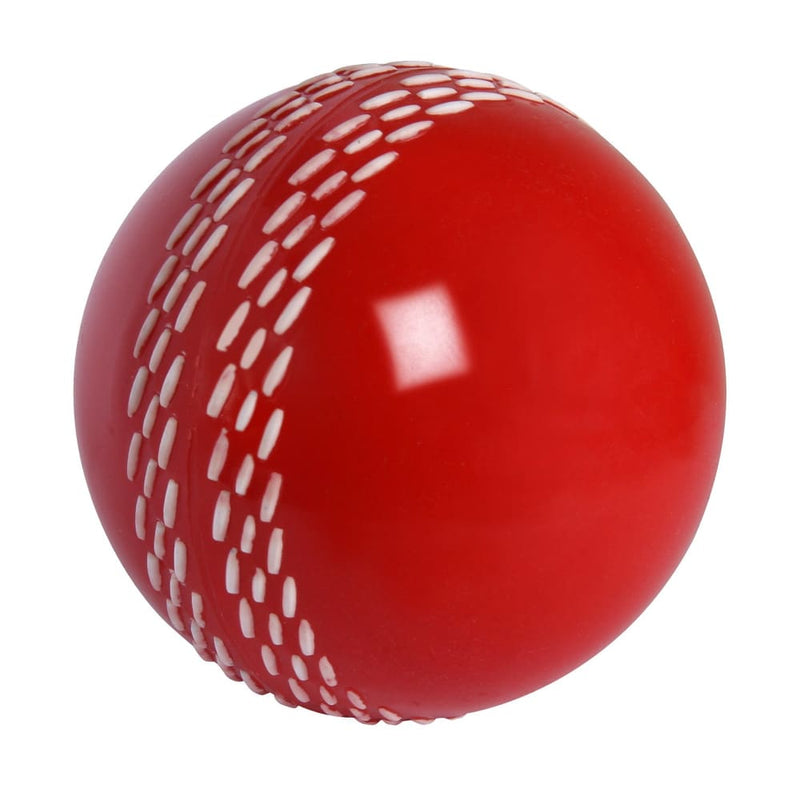 Velocity Cricket Ball Superb Training Device Soft Rubber Ball Gray Nicolls - Red - BALL - TRAINING SENIOR