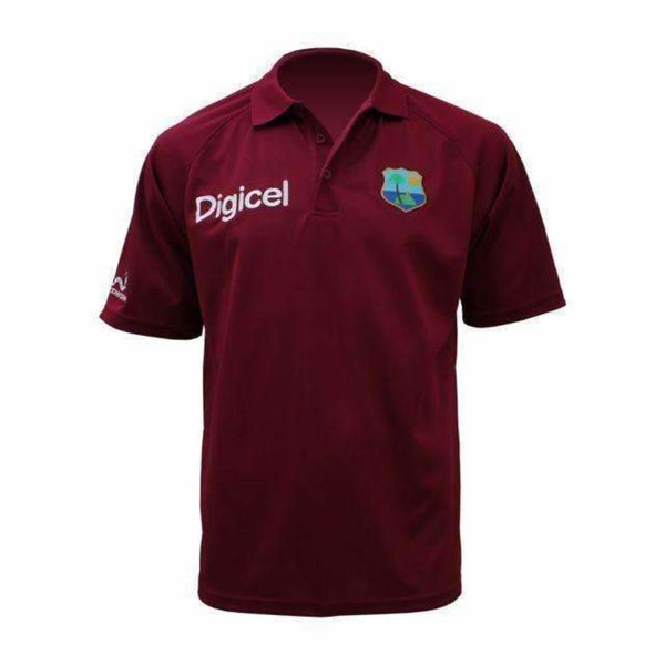 West Indies Cricket Team Shirt Maroon - CLOTHING - SHIRT