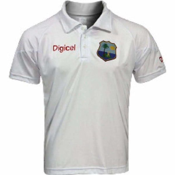 West Indies Cricket Team Test Shirt White - CLOTHING - SHIRT