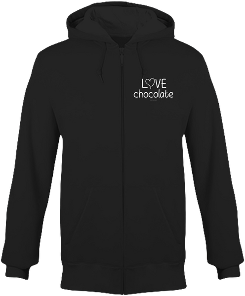"Sweat zippé chaud ""Love Chocolate"" - justchocolate"