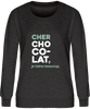 "Sweat Col rond Femme ""Cher chocolat, je t'aime beaucoup"" Blanc - justchocolate"