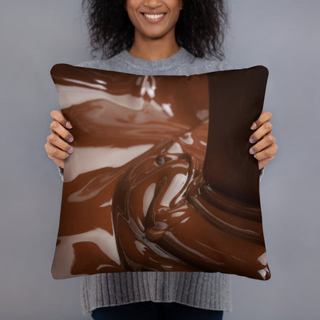 Coussin chocolat - justchocolate