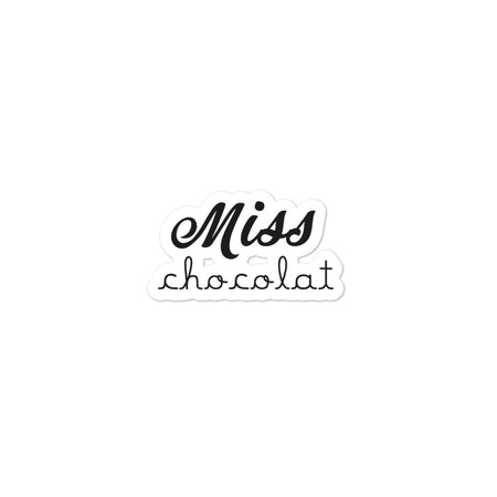 Sticker Miss Chocolat - justchocolate
