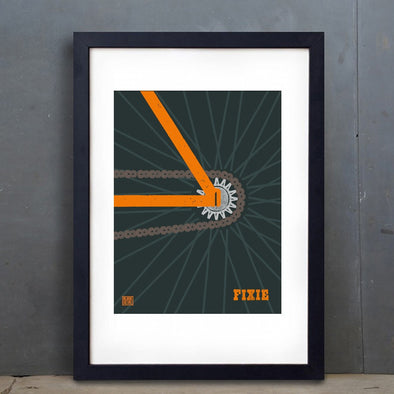 Stylish Cycling Prints - Art Spin Shed Block Culture