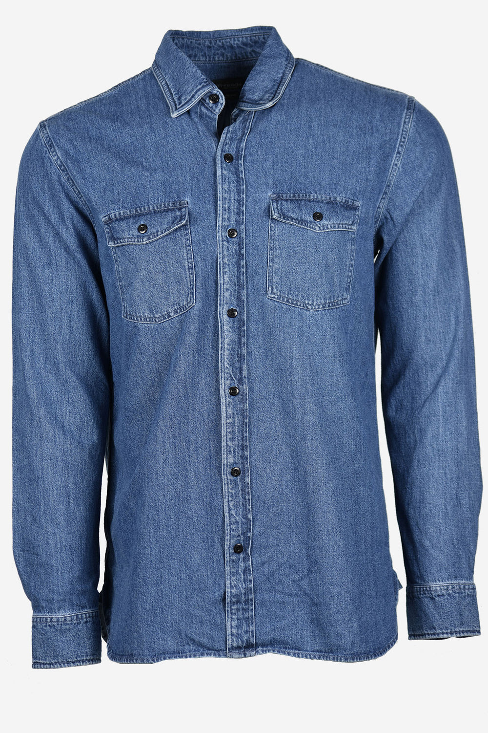Denim Washed Long Sleeve Shirt