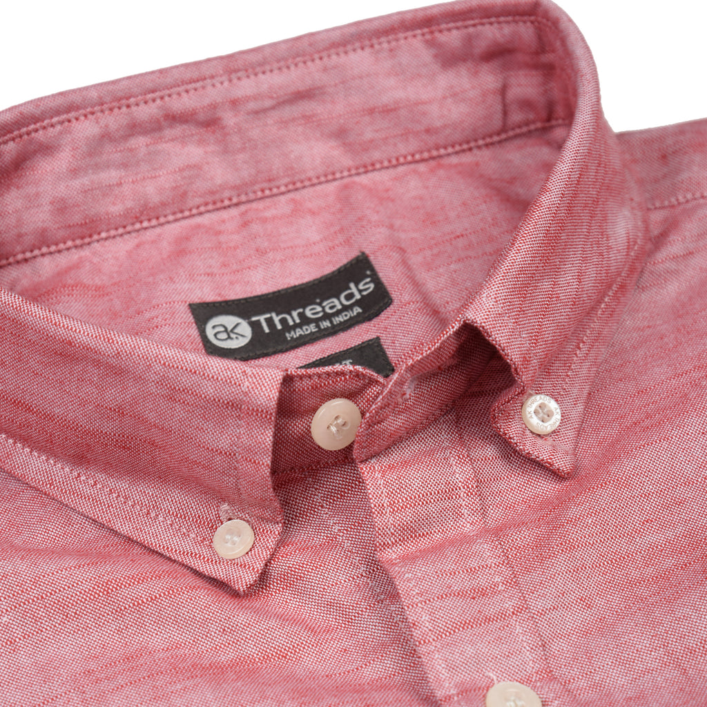 Coral Textured Short Sleeve Shirt