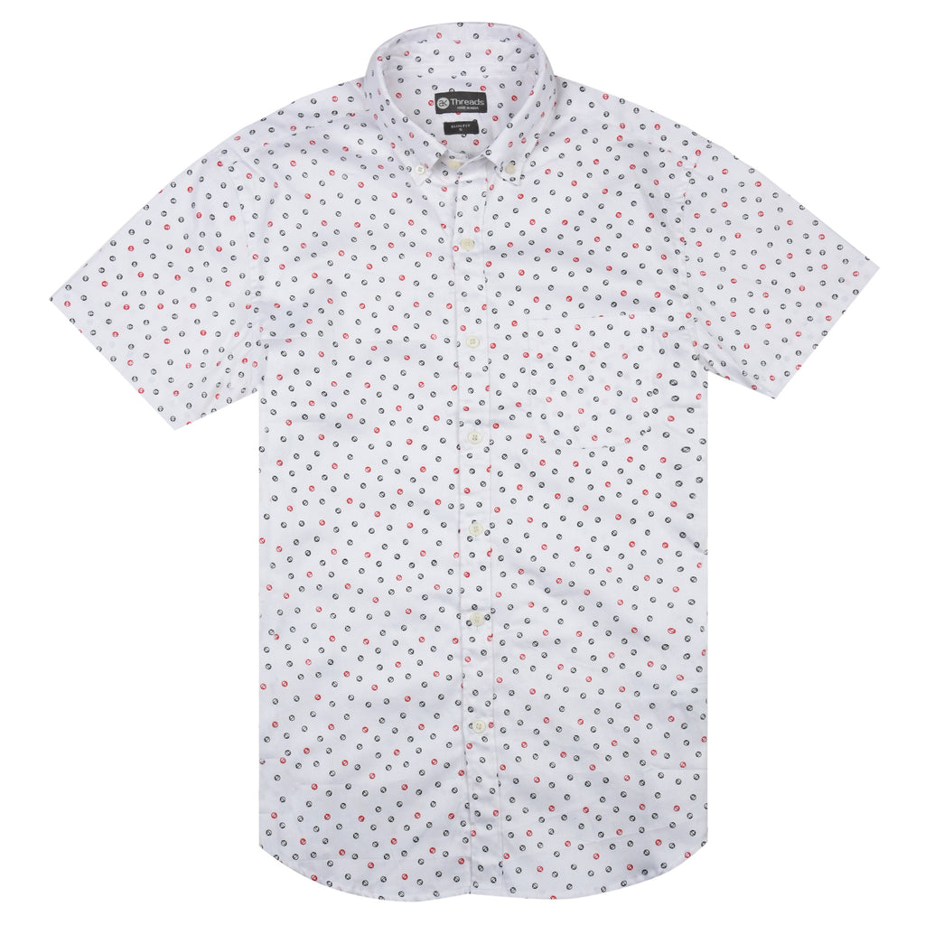 Micro Anchor Print Short Sleeve Shirt