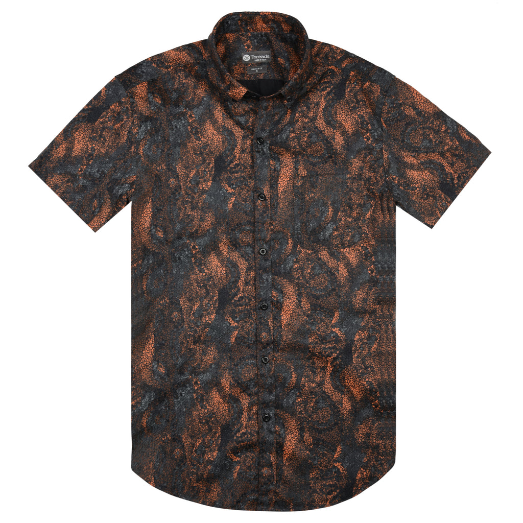 Mosaic Print Short Sleeve Shirt