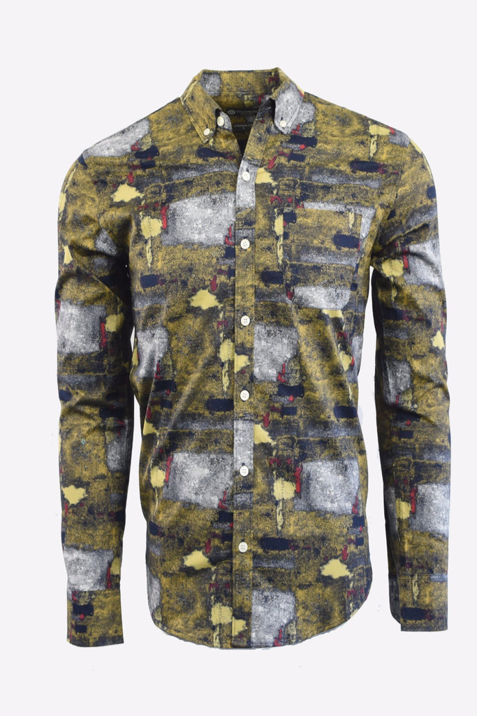 Green Abstract Long Sleeve Shirt
