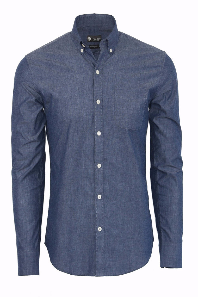 Chambray Blue Long Sleeve Shirt
