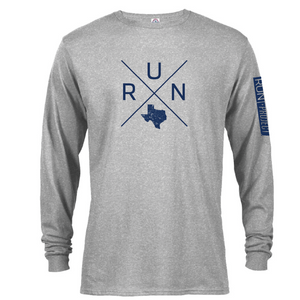 Run Texas Long Sleeve Grey