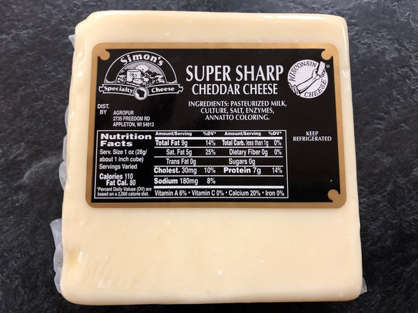 Simon's 11yr Old White Cheddar - 8oz piece