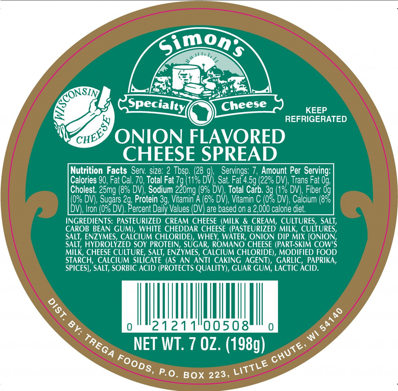7 oz Simon's Onion Spread