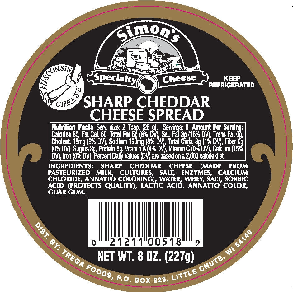 8 oz Simon's Sharp Cheddar Spread