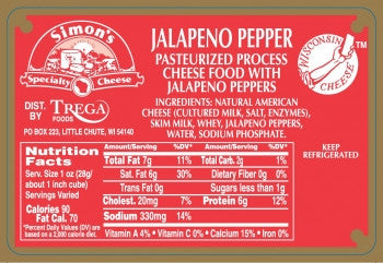 Jalapeno Pepper Cheese (process)
