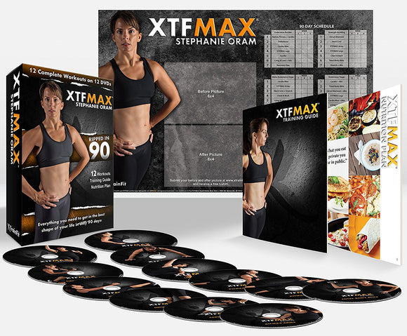 XTFMAX 90 Day DVD Workout 12 DVD with Training Calendar and Fitness Guide