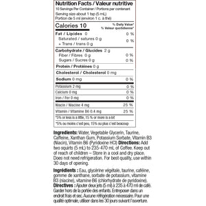 energy coffee booster nutrition facts