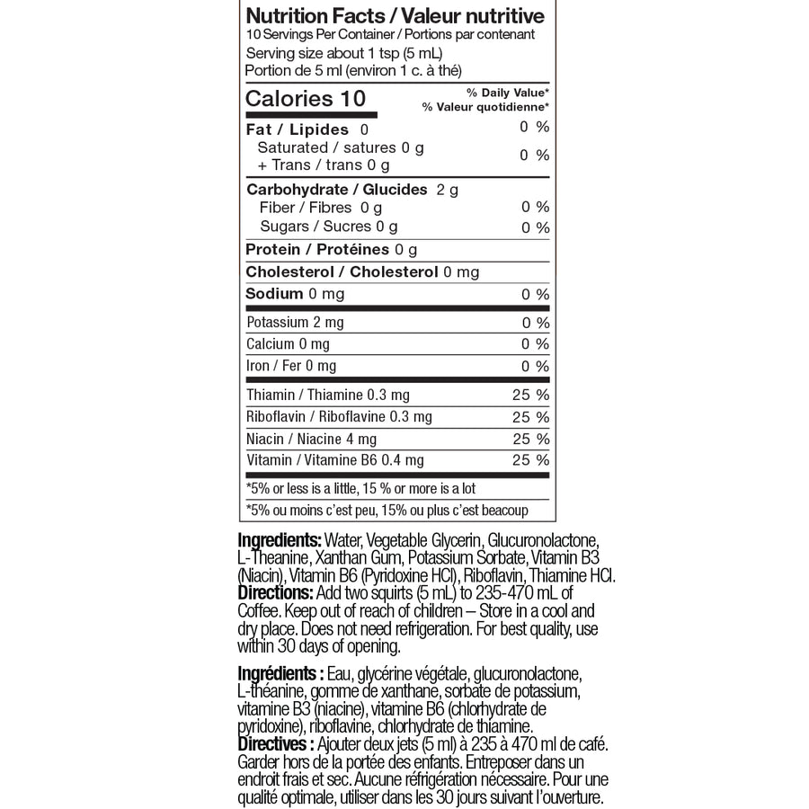 mind booster nutrition facts