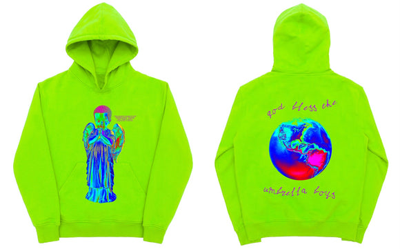 Praying Angel Neon Hoodie